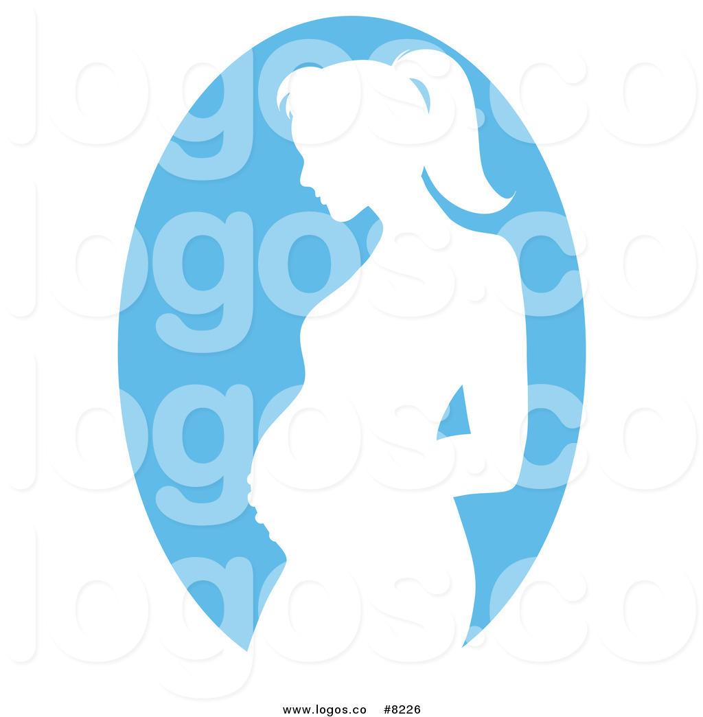 1024x1044 Royalty Free Clip Art Vector Logo Of A Blue Pregnant Mother