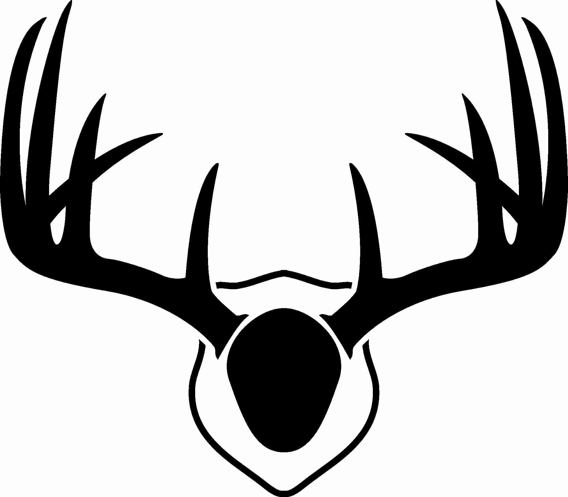 1979x1734 Deer Antler Head Silhouette Clipart Svg Free Brilliant Antlers