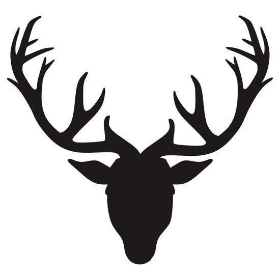 Free Deer Head Silhouette Clip Art