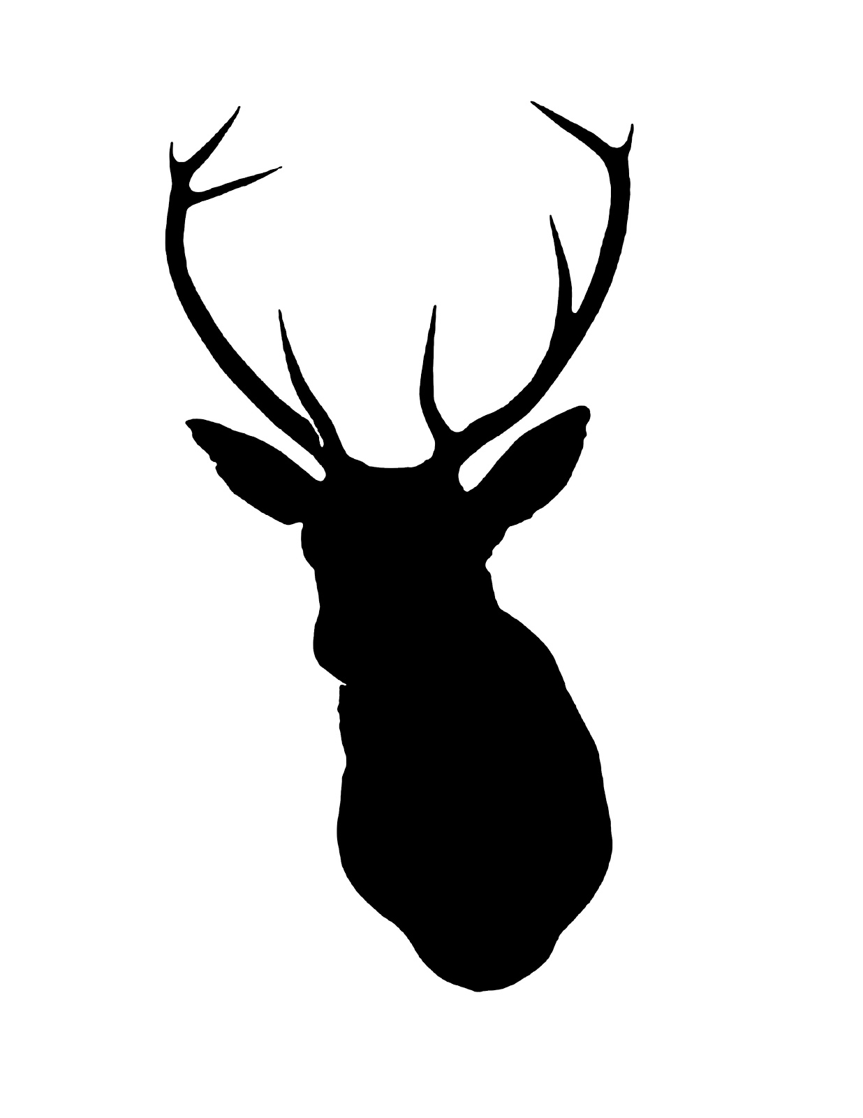 1236x1600 Deer Head Silhouette Christmas Deer Stencil, Deer
