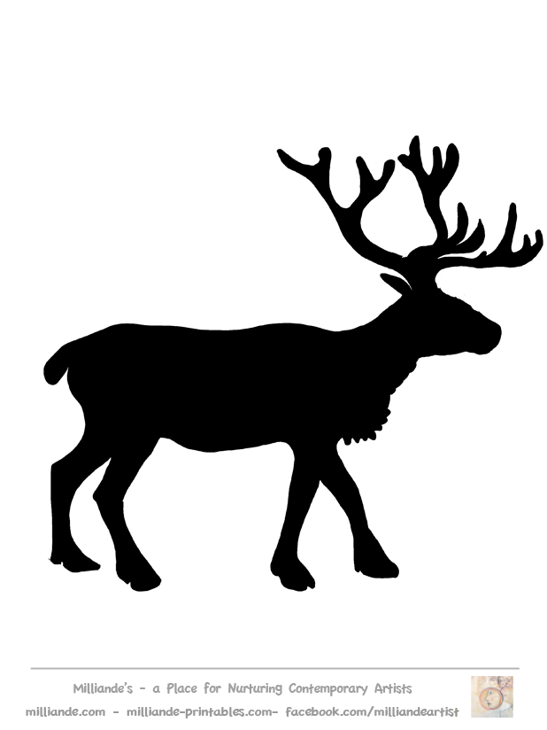 618x824 Free Reindeer Clipart Silhouettes Of Reindeer Stag Picture