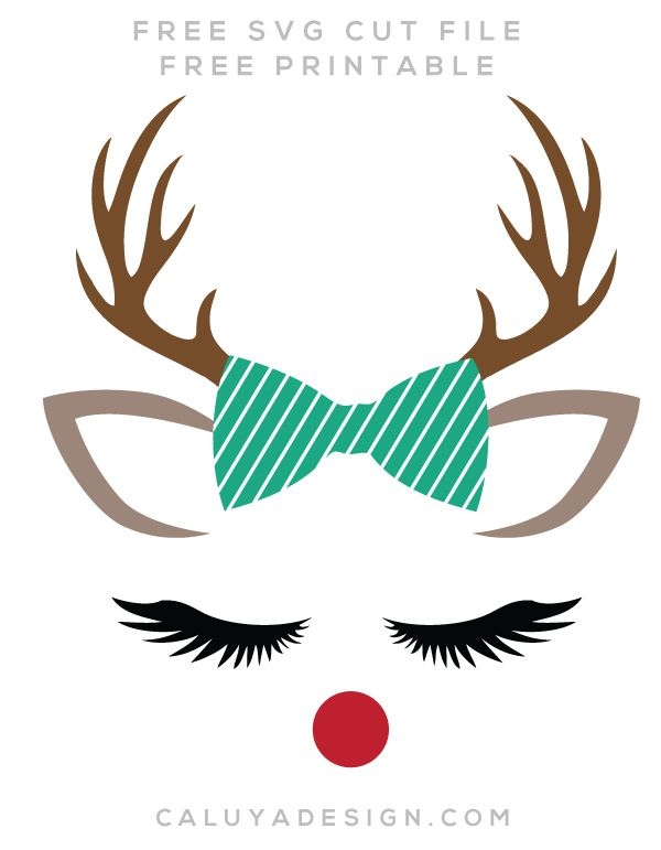 600x771 Reindeer Faces Free Svg, Png, Dxf, Eps Download By C. Design Diy