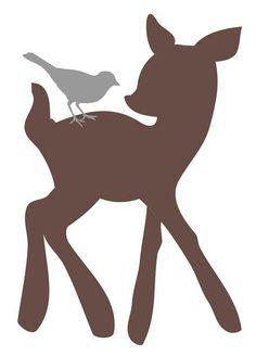 236x328 Free digital stamp  +leaping Deer silhouette image.jpg