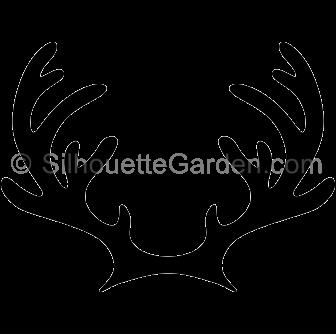 336x334 Reindeer Antlers Silhouette Clip Art. Download Free Versions