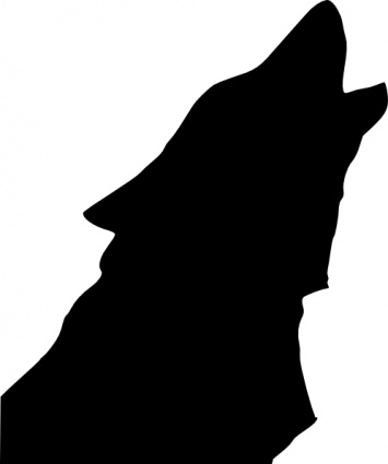 355x425 Wolf Silhouette Clip Art Wolf Howling Clip Art Of Howling Wolf