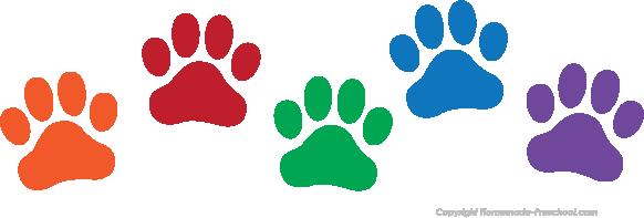 582x197 Brilliant Decoration Dog Print Clip Art Paw Silhouette Download