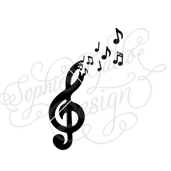 570x570 Free The Music Svg Dxf Digital Download Files For Silhouette