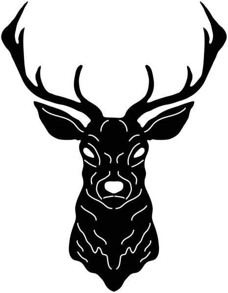 466x600 Deer Head Free Dxf File