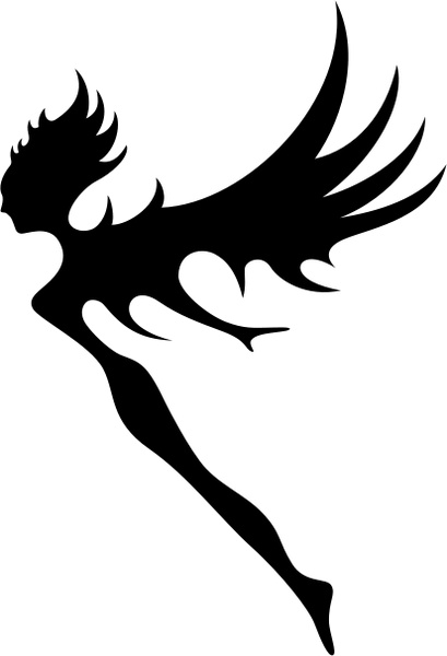 409x600 Tribal Fairy Silhouette Vector Free Download Free Vector Download