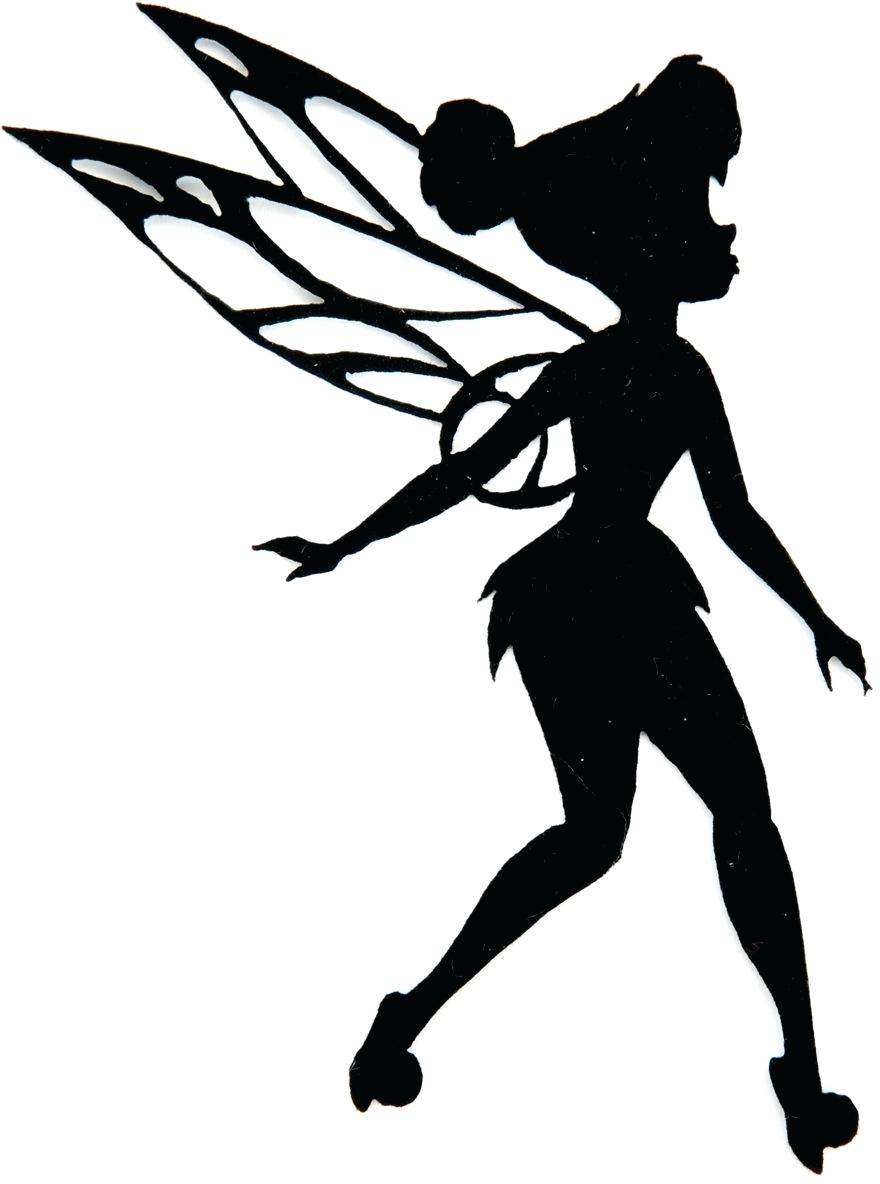 It is an image of Canny Fairy Silhouette Printable