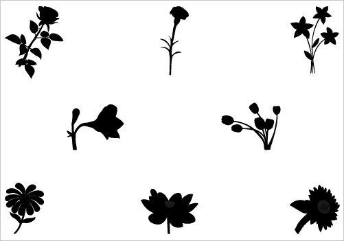 501x351 Flower Silhouette Vector