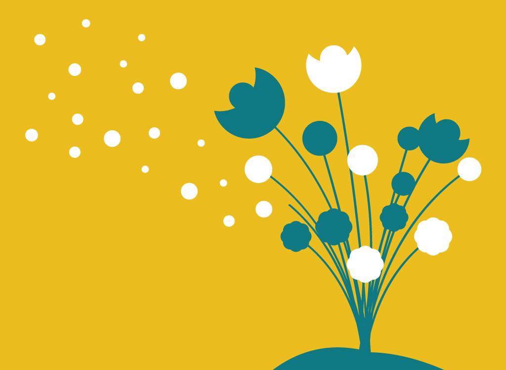 1024x750 Silhouette Flowers