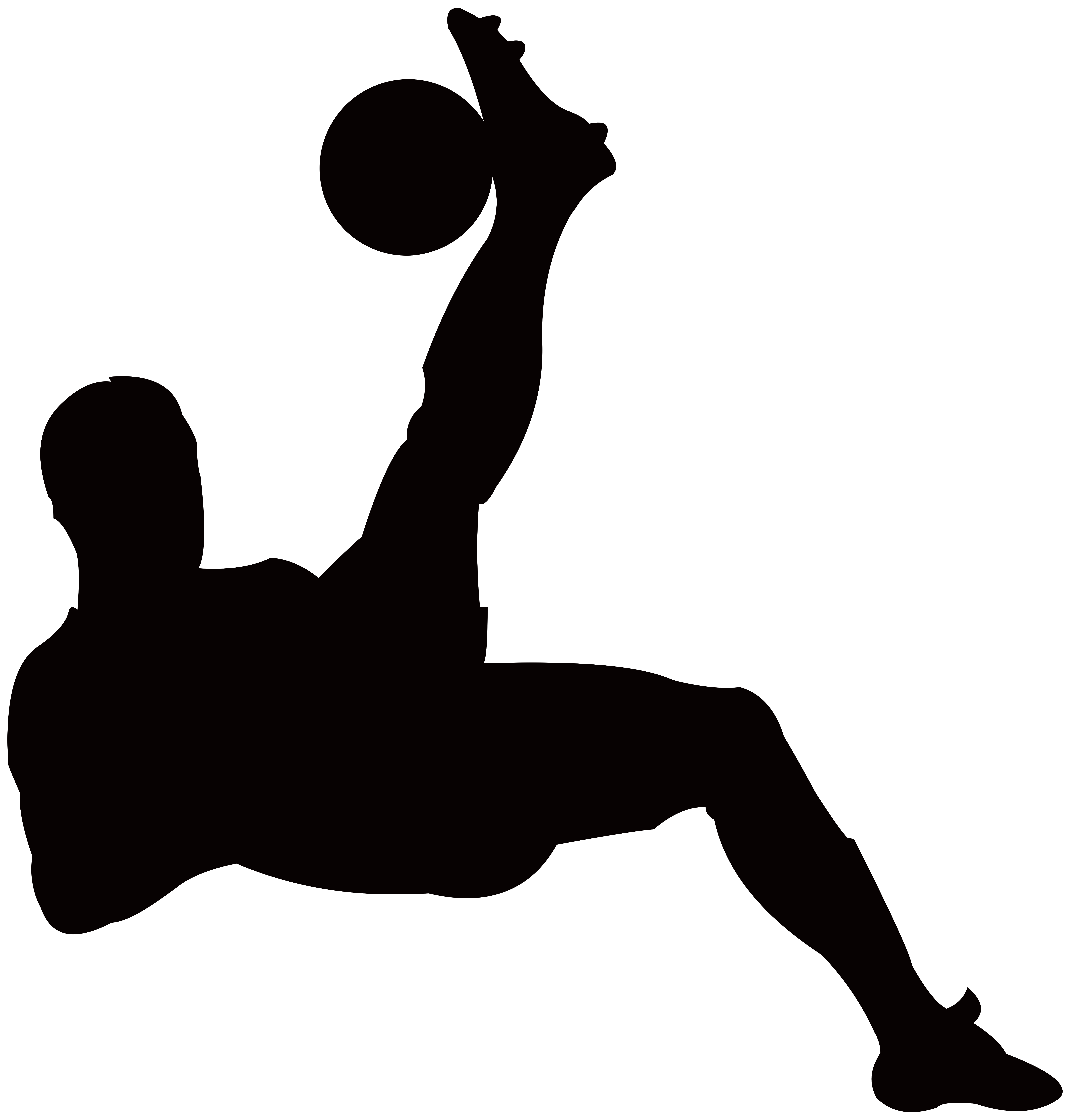 7645x8000 Football Player Silhouette Transparent Png Clip Art Image