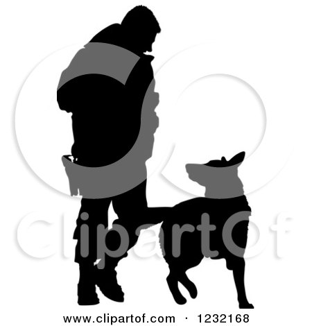 450x470 Clipart Of A Black Silhouetted German Shepherd Dog Sitting
