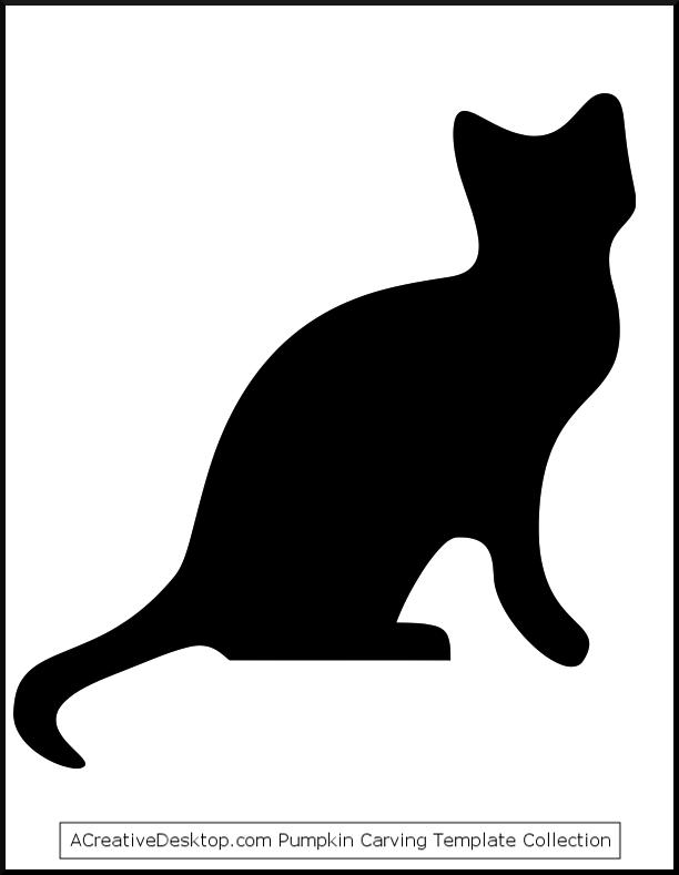 612x789 Image Detail For Free Halloween Pumpkin Carrving Cat Templates