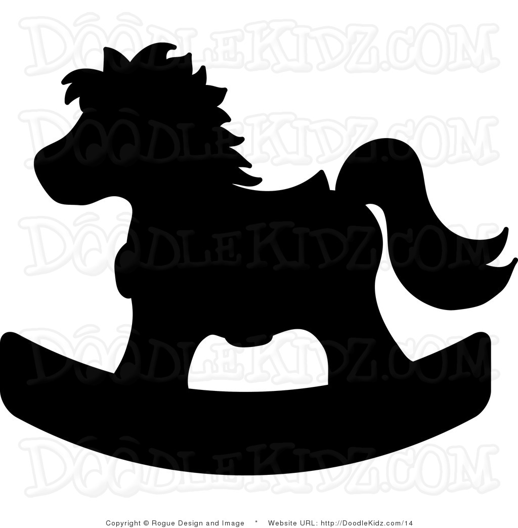 1024x1044 Rocking Horse Silhouette Clipart