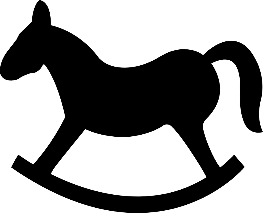 889x720 Rocking Horse Silhouette 101 Clip Art