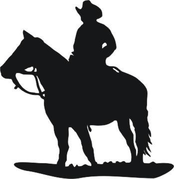 349x360 Cowboy Horse Silhouette Clipart