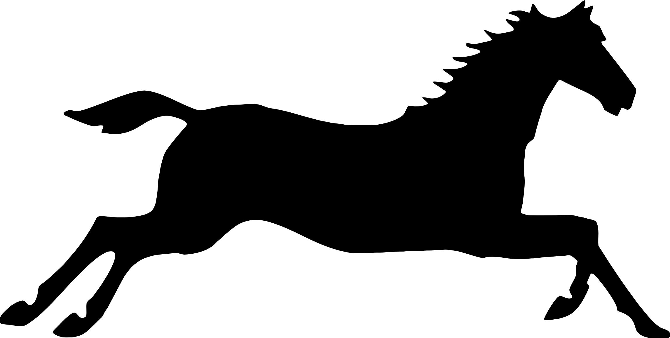 2296x1158 Galloping Horse Silhouette Icons Png