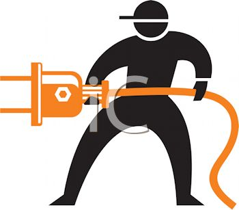 350x307 Silhouette Of A Man Plugging In An Electrical Plug