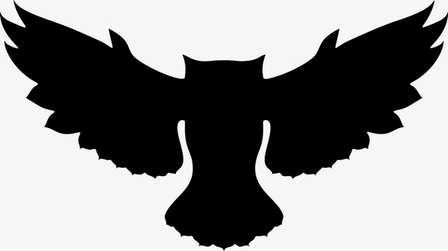 640x359 Owl Silhouette, Owl, Wisdom, Feather Png Image And Clipart