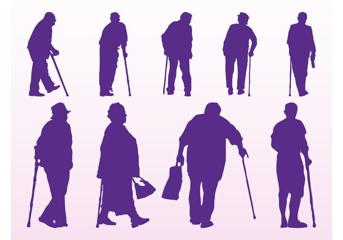 700x490 Elderly People Silhouettes
