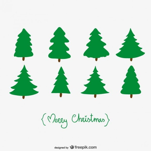 Free Pine Tree Silhouette Vector