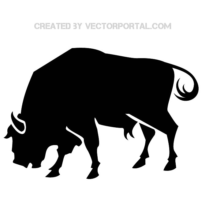 660x660 Silhouette Of A Bull Vector