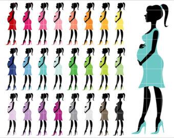 Free Pregnant Silhouette Clip Art