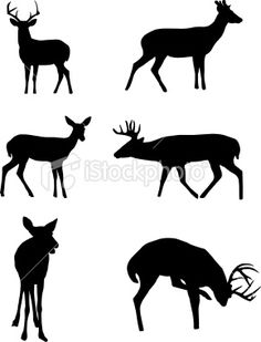 236x309 Deer Silhouette Family Vinyl Car Decal By Countrychicantiques