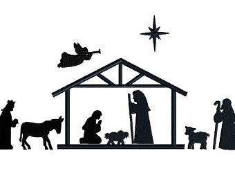 340x270 Nativity Silhouette Clipart