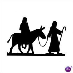 236x234 Nativity Scene With Jesus, Mary, Joseph Silhouette By Milena