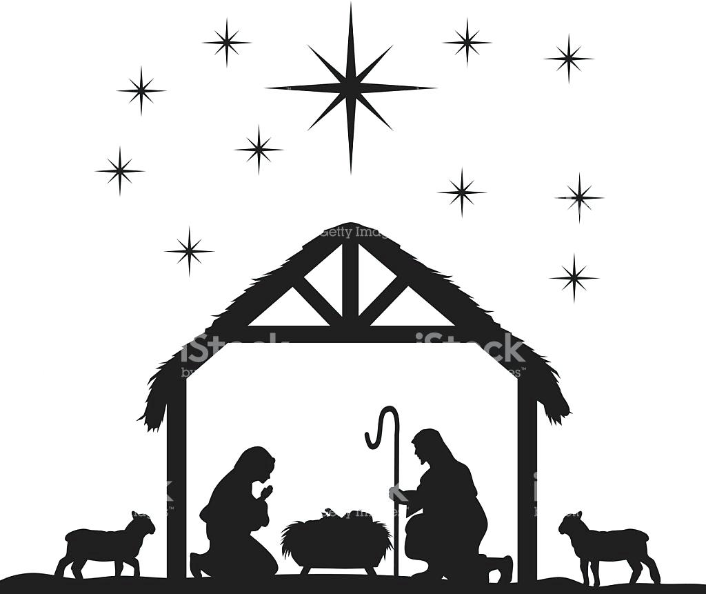 Magic image throughout free printable nativity silhouette
