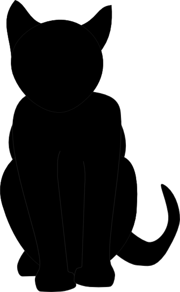 366x593 Black Cat Silhouette Pumpkin Carving Stencil Via Clker Patterns