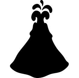 263x262 Free Svg Pdf Png Jpg Eps Volcano Silhouette What's My Color
