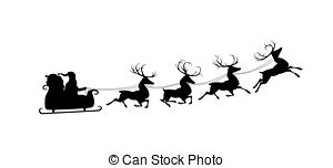 300x152 Santa's Sleigh Moonlight Stock Photos And Images. 408 Santa'S