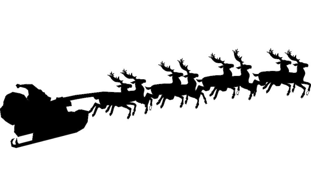 1002x633 Santa With Reindeer Santa With Reindeer Dxf File Free Download