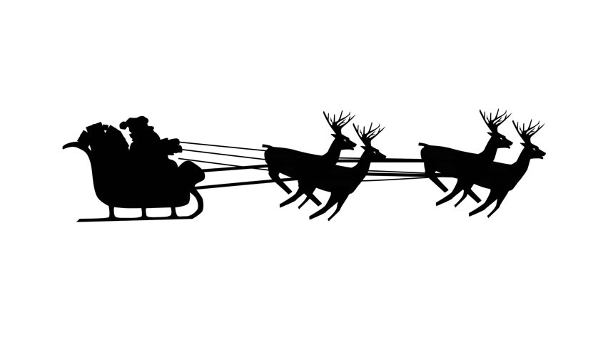 852x480 Christmas Santa Sleigh Motion Background 4k