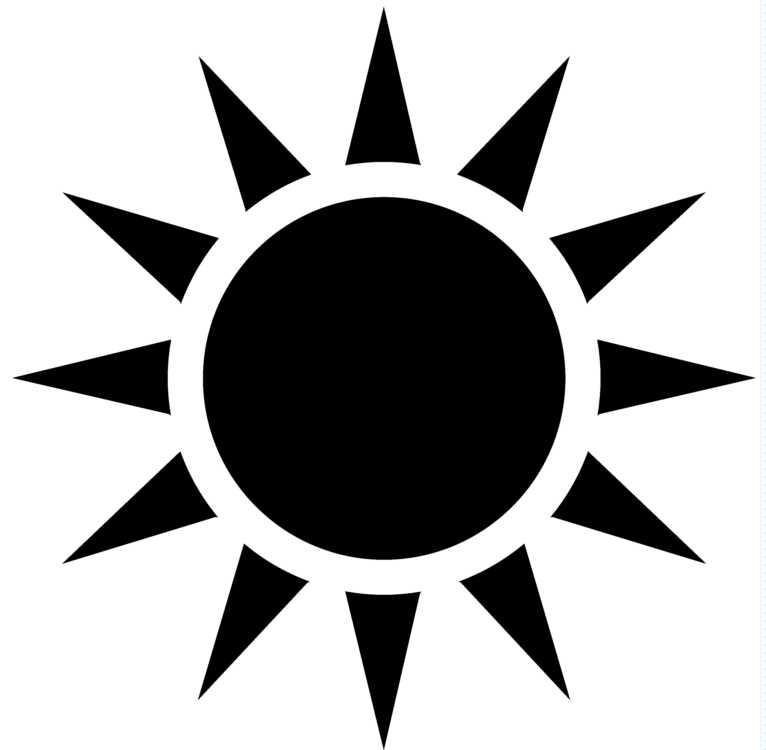766x750 Sun Silhouette Clipart Black And White