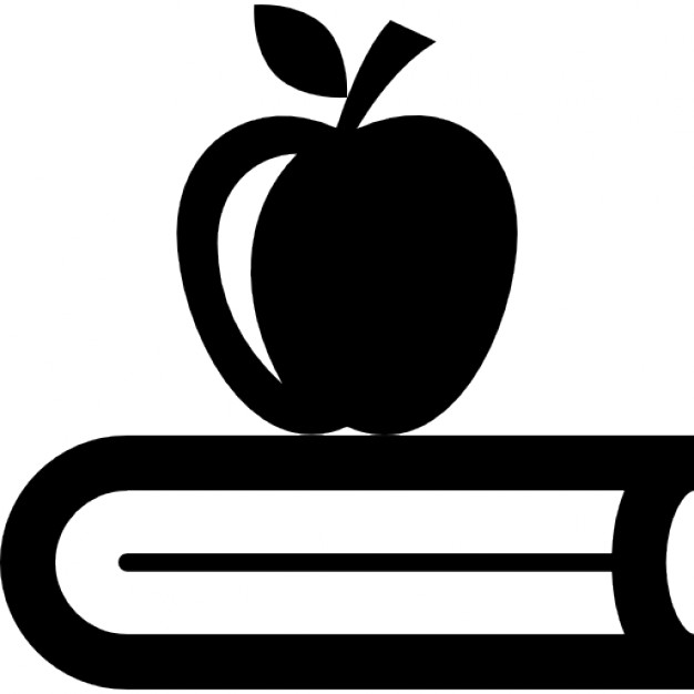 626x626 Book With Apple Icons Free Download