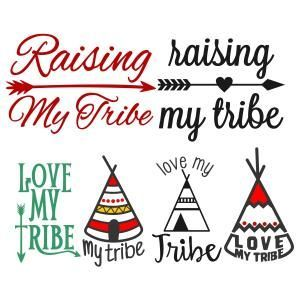 300x300 Free} Love My Tribe Svg Cuttable Designs Craft Room