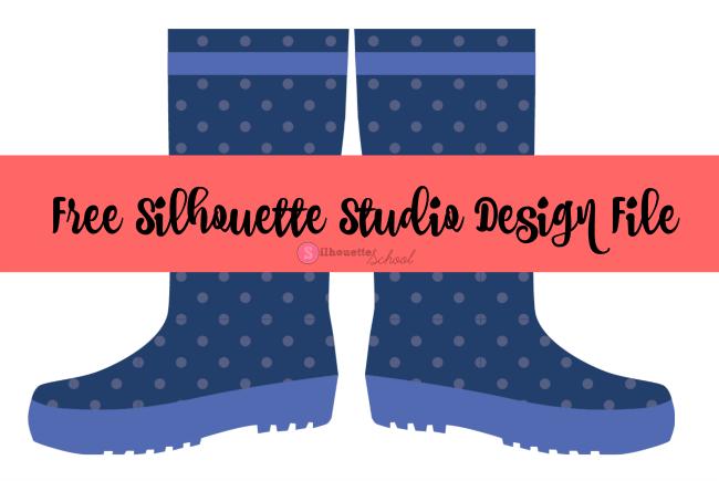 650x435 Free Silhouette Studio Rain Boots Design File