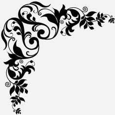 236x236 Corner Design Ornament. Free Personal Use Dxf, Svg, Eps Files