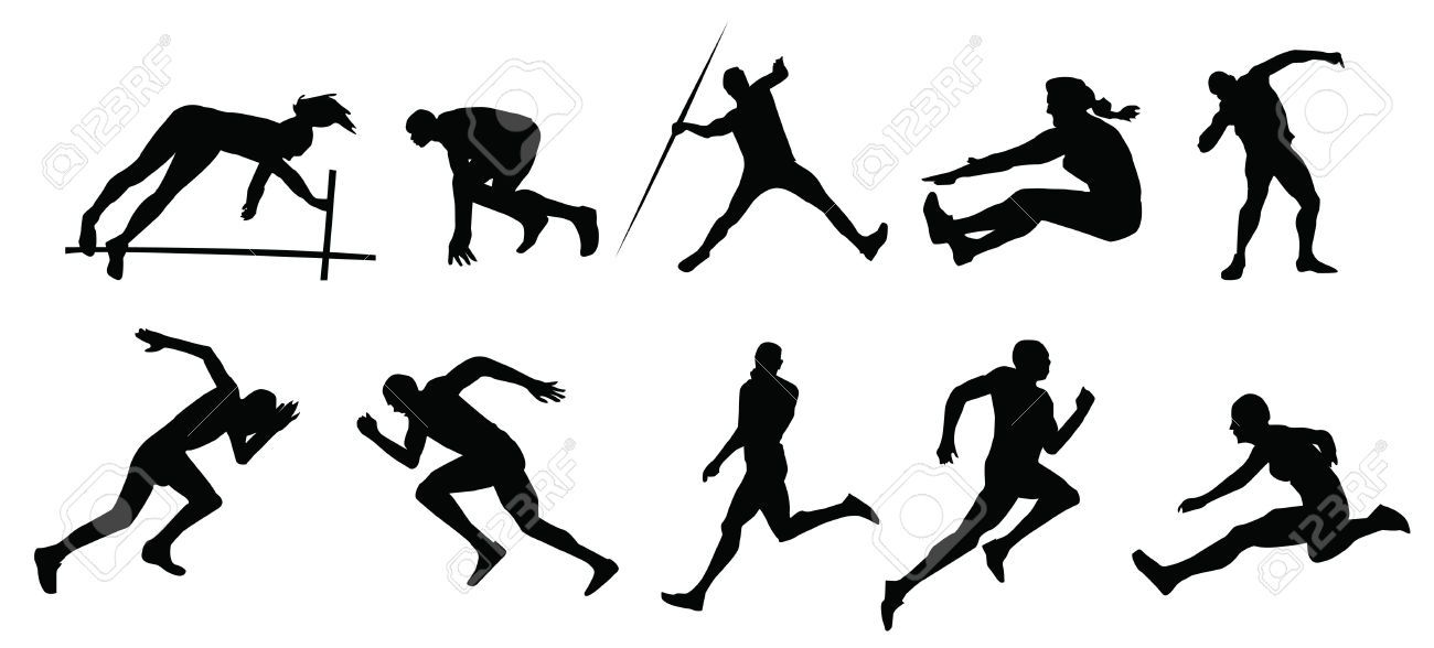 1300x588 Free download Track And Field Silhouette Clipart for your creation