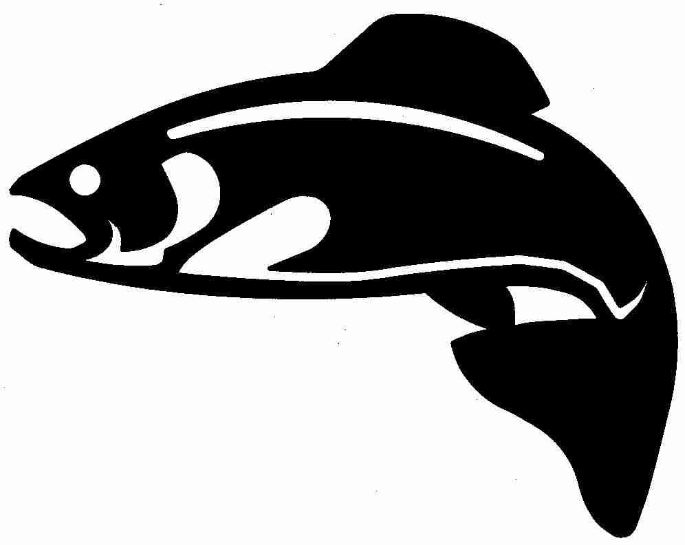 996x792 Trout Silhouette Free Download Clip Art On Entrancing Silhouettes