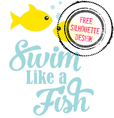 464x481 Free Silhouette Cameo Designs Swim Like A Fish