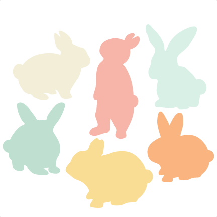 432x432 Miss Kate Cutables Freebie Of The Day (32415). Bunny Silhouette