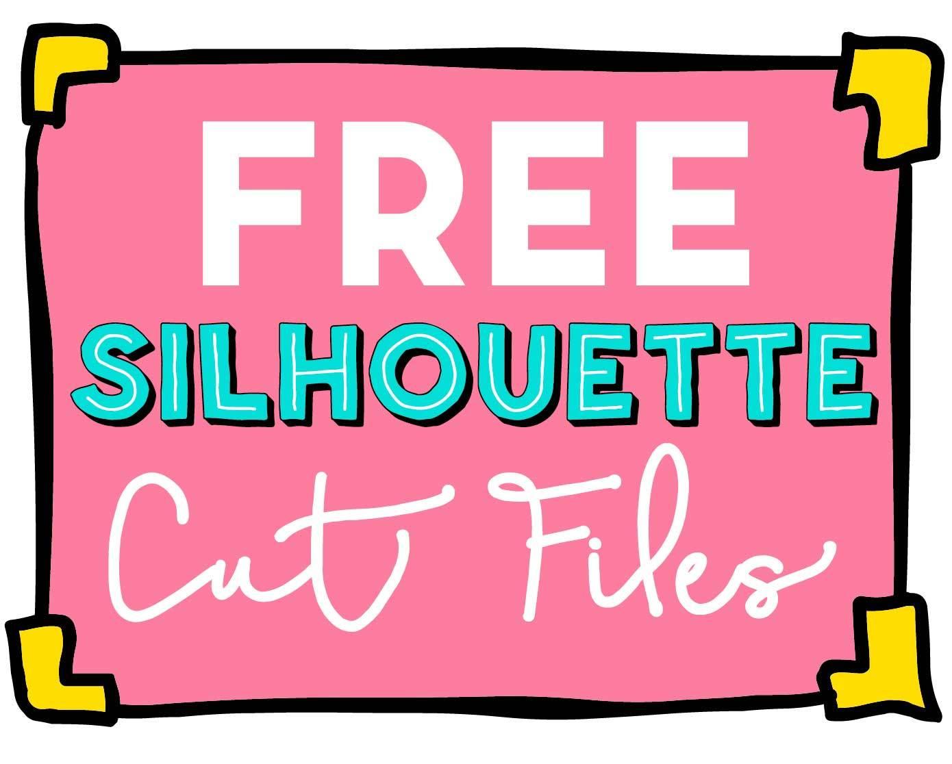 1390x1116 Free Silhouette Cut Files!