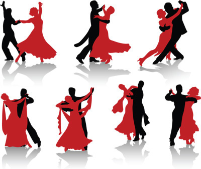 400x338 Classical Dancing Silhouette Free Vector Download (10,333 Free