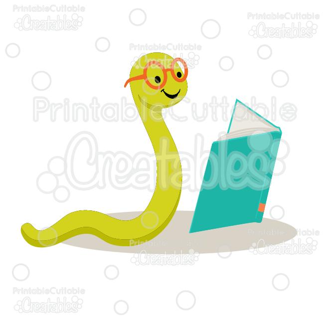 650x650 Cute Bookworm Svg Cut File Amp Clipart